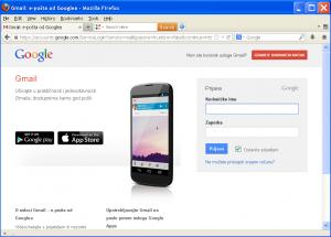 Slika 1- Internet stranica za prijavu na Google korisnicki racun
