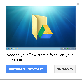 Slika 10 -Prozor Preuzmite Google disk za Windows