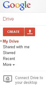 Slika 5 - Osnovni izbornik Google diska