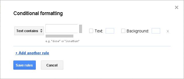 Slika 75 - Prozor Conditional formatting