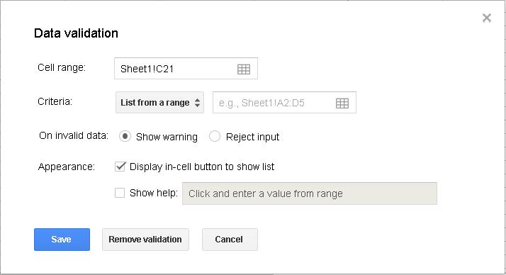Slika 80 - Prozor Data validation